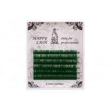 Ресницы зелёные MINI - 6 линий - MIX