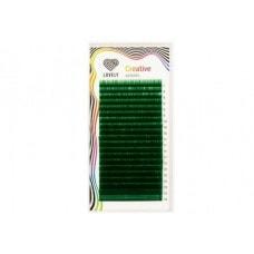 Ресницы зелёные - 20 линий - MIX