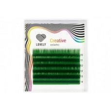 Вії зелені MINI - 6 ліній - MIX