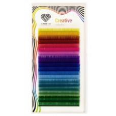 Ресницы цветные Salut, 20 линий