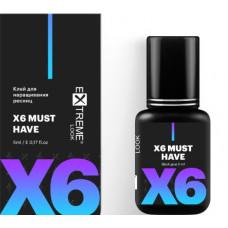 """Клей для наращивания ресниц """"X6"""", 5 ml"""