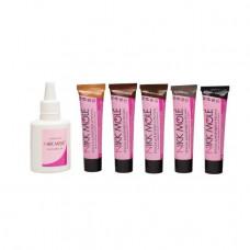 Фарба + окислювач мікс (5 кольорів по 15 ml)
