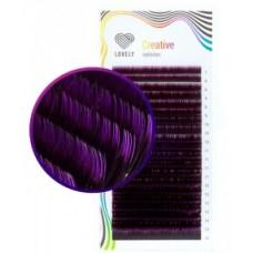 Ресницы двухтоновые фиолетовые, MIX, 20 линий